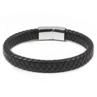 Loke Læder Armbånd Sort 10mm