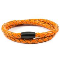 Armbånd-Orange-Læder